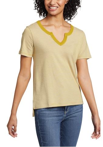 Eddie Bauer T-Shirt, Favorite Shirt - Kurzarm mit Y-Ausschnitt - geringelt kaufen