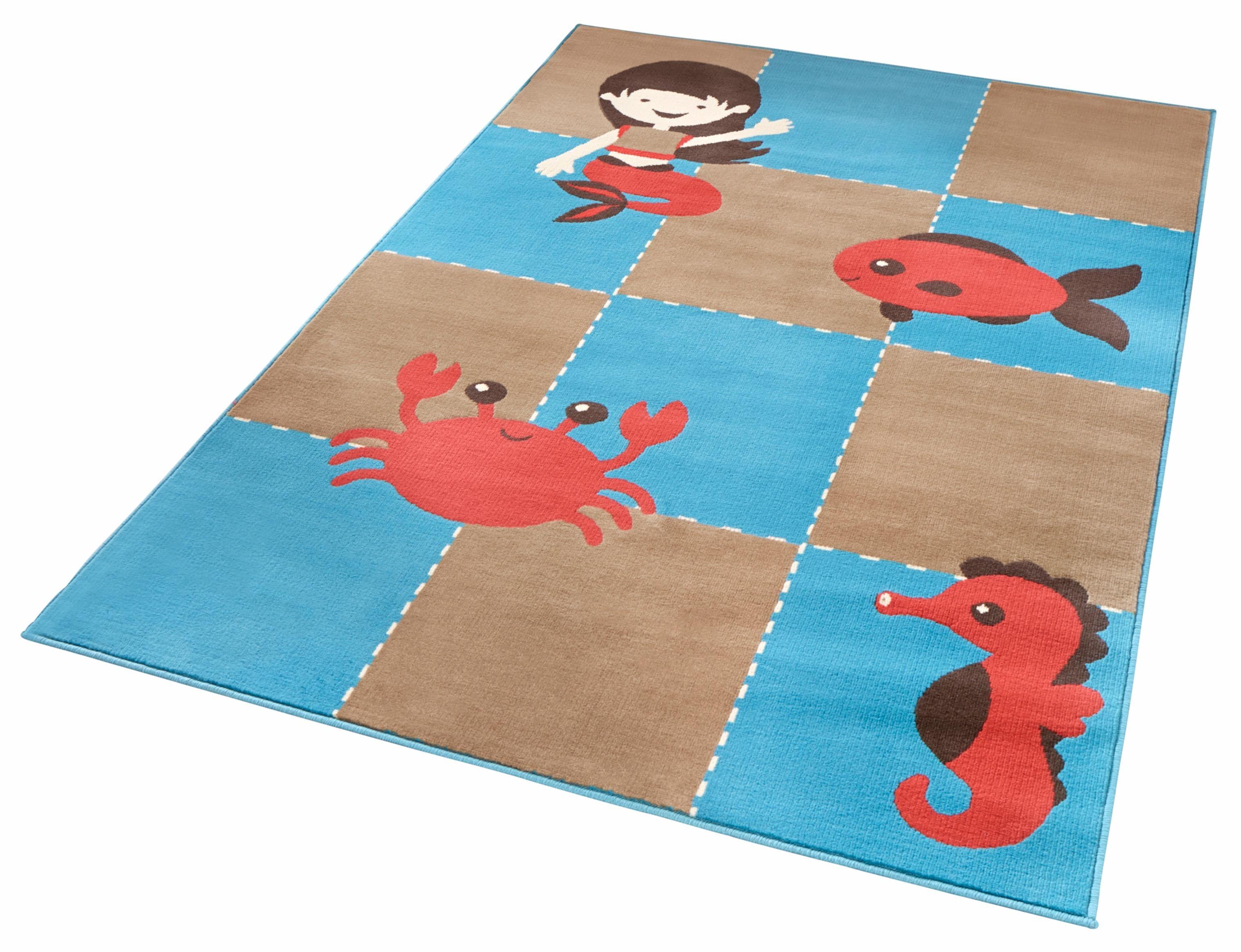 Kinderteppich Meeresbewohner Zala Living rechteckig Höhe 9 mm