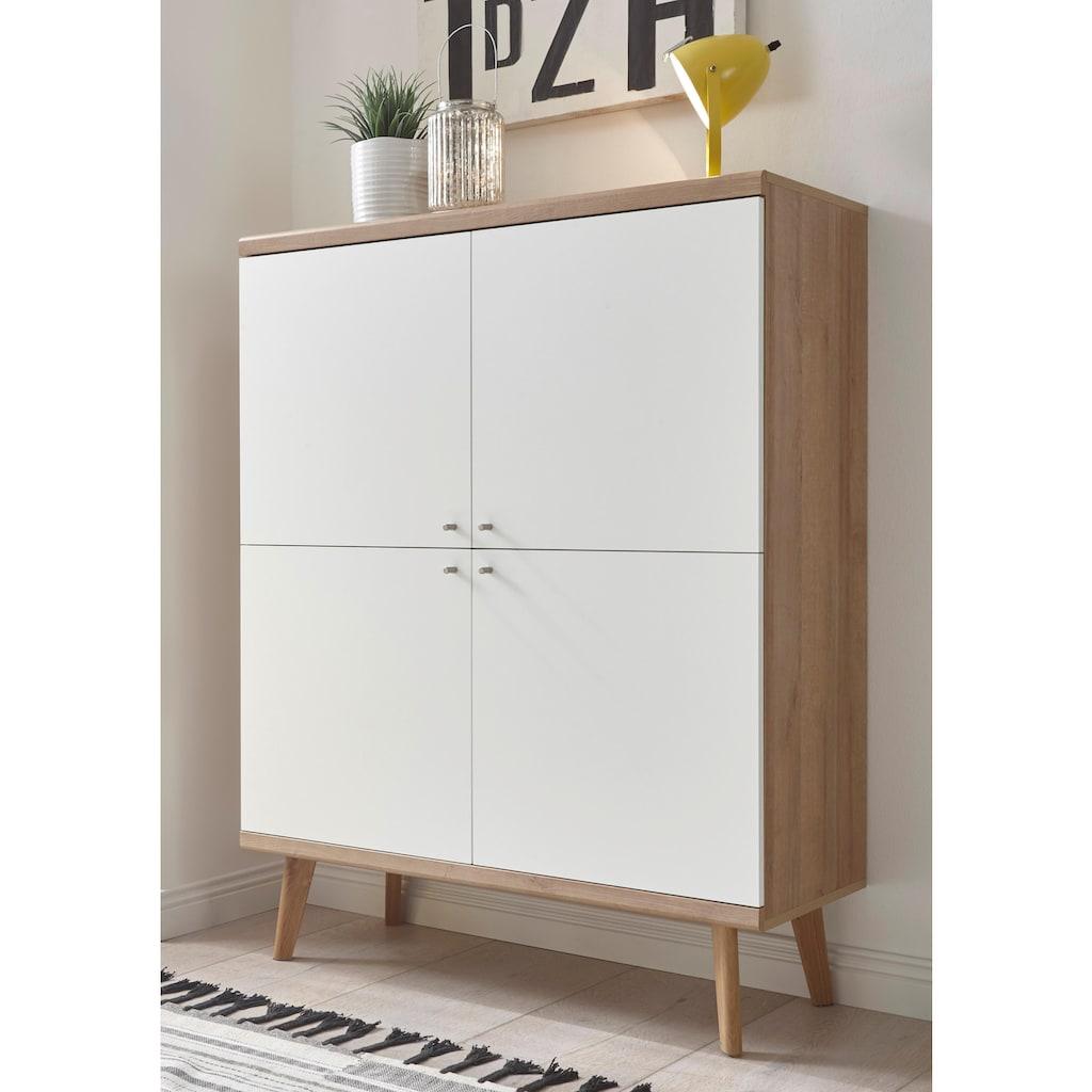 andas Highboard »Merle«, im skandinavischen Design, Breite 107 cm