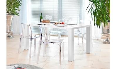 SalesFever Essgruppe, (Set, 5 tlg.), bestehend aus 4 modernen Kunststoffstühlen und... kaufen