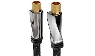 AVINITY SAT - Anschlusskabel, Gewebe, vergoldet, 120 dB, 3 m »F - Stecker  -  F - Stecker« kaufen