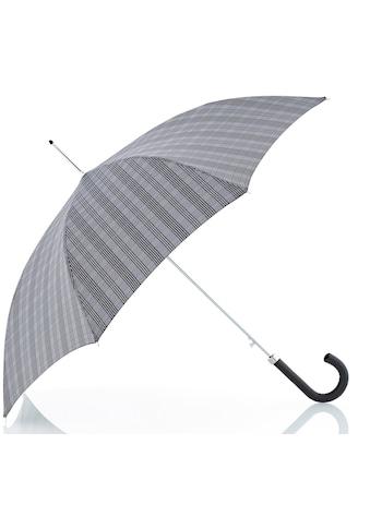 doppler MANUFAKTUR Stockregenschirm »Orion, karo grau«, handgemachter... kaufen