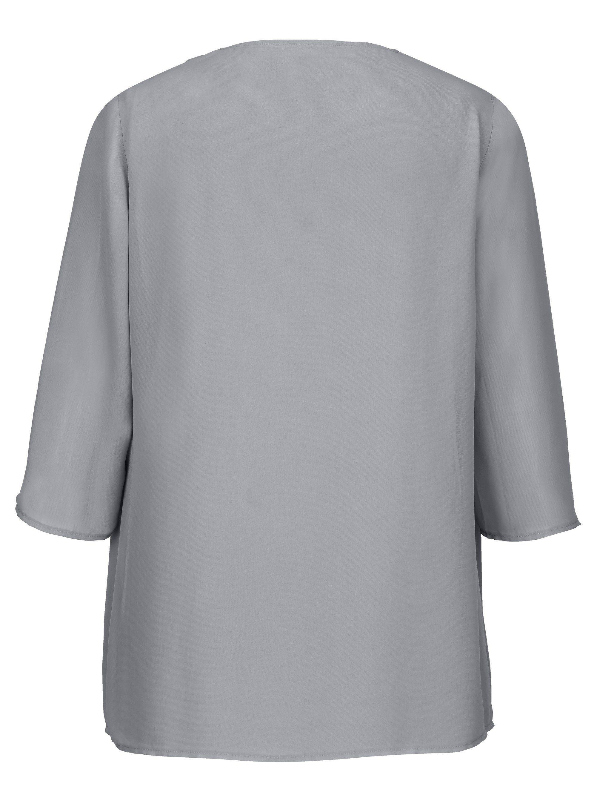 m collection 2-in-1 Shirt in praktischer Doppeloptik | Bekleidung > Shirts > 2-in-1 Shirts | Grau | M. Collection