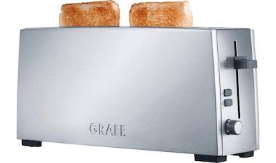 Graef Toaster »TO 90«, 1 langer Schlitz, 880 W, Langschlitztoaster, silber kaufen