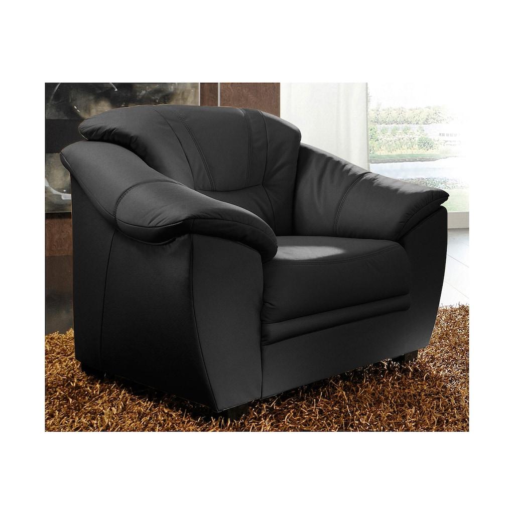 sit&more Sessel, NaturLEDER®, inklusive komfortablem Federkern