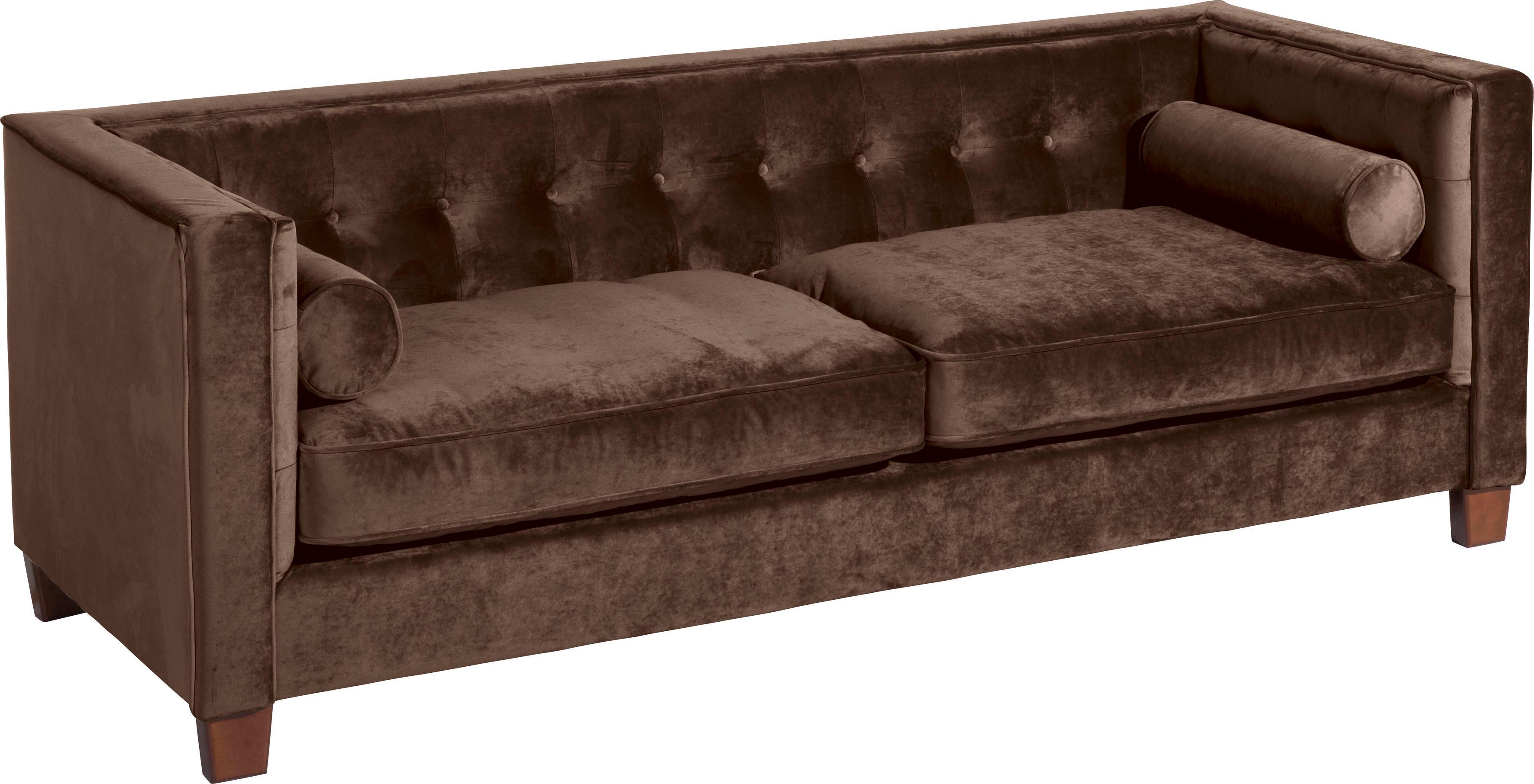 Max Winzer 3-Sitzer Sofa Jobbi mit Steppung im Rücken inklusive 2 Kissenrollen Breite 215 cm