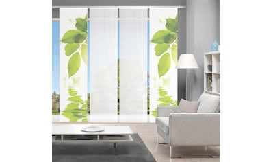 Vision Schiebegardine »LEFANO 4er SET«, Bambus-Optik, Digital bedruckt kaufen