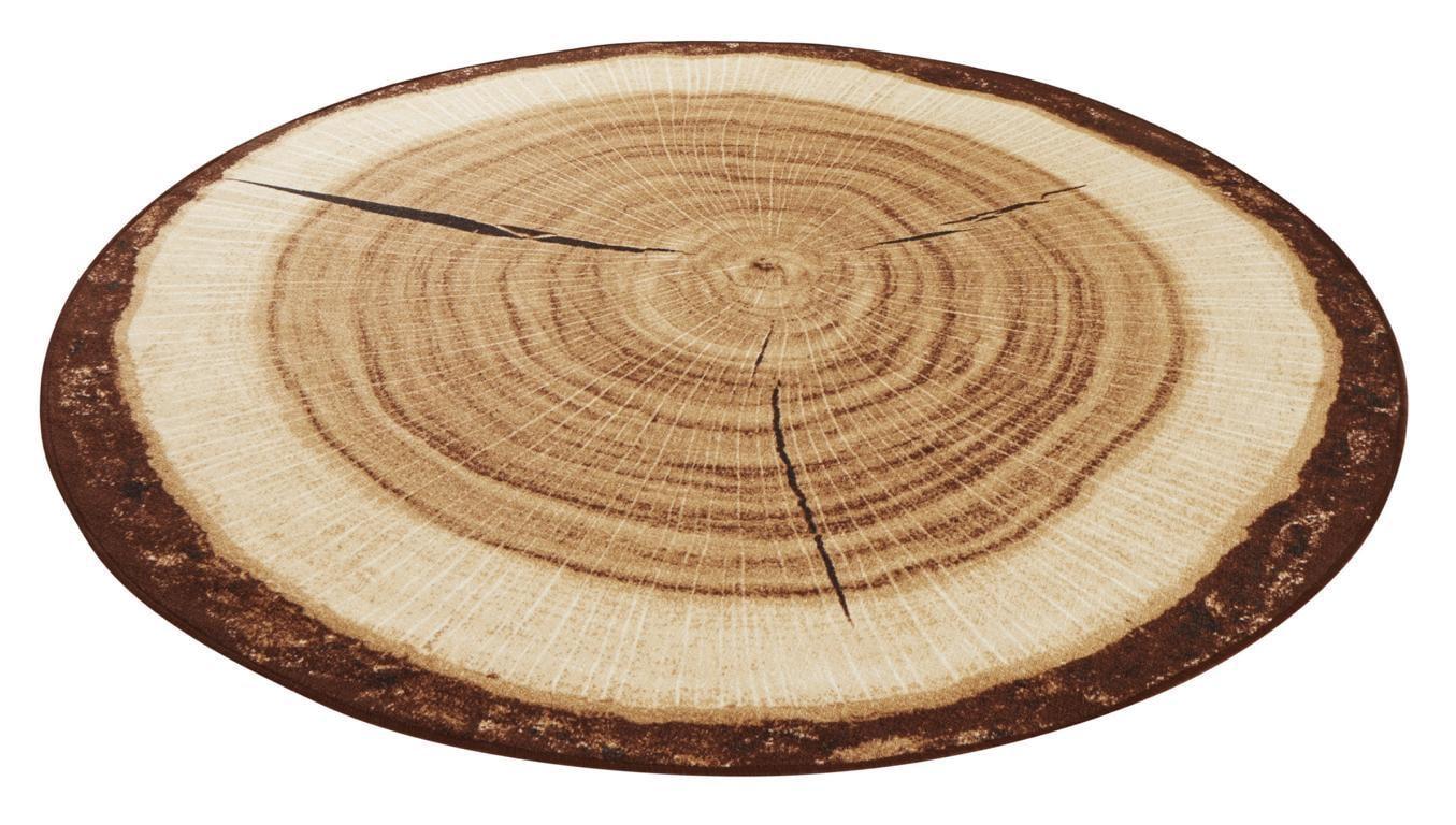 Teppich Baumstamm HANSE Home rund Höhe 6 mm maschinell getuftet