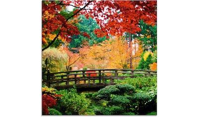 Artland Glasbild »Eine Brücke im japanischen Garten« kaufen