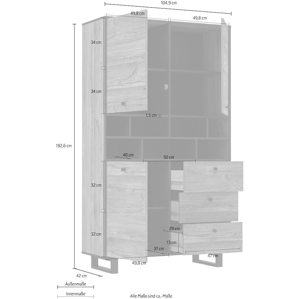 FORTE Highboard, Breite ca. 104 cm