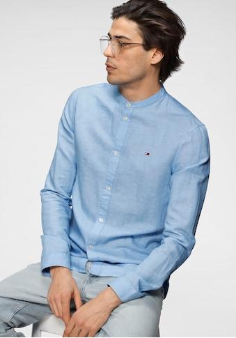 Tommy Jeans Langarmhemd »TJM MAO COLLAR OXFORD SHIRT« kaufen