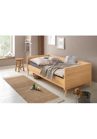 Lüttenhütt Bett »Ellen«, aus massivem Kiefernholz, in 2 verschiedenen Farben, mit Holzfüßen kaufen