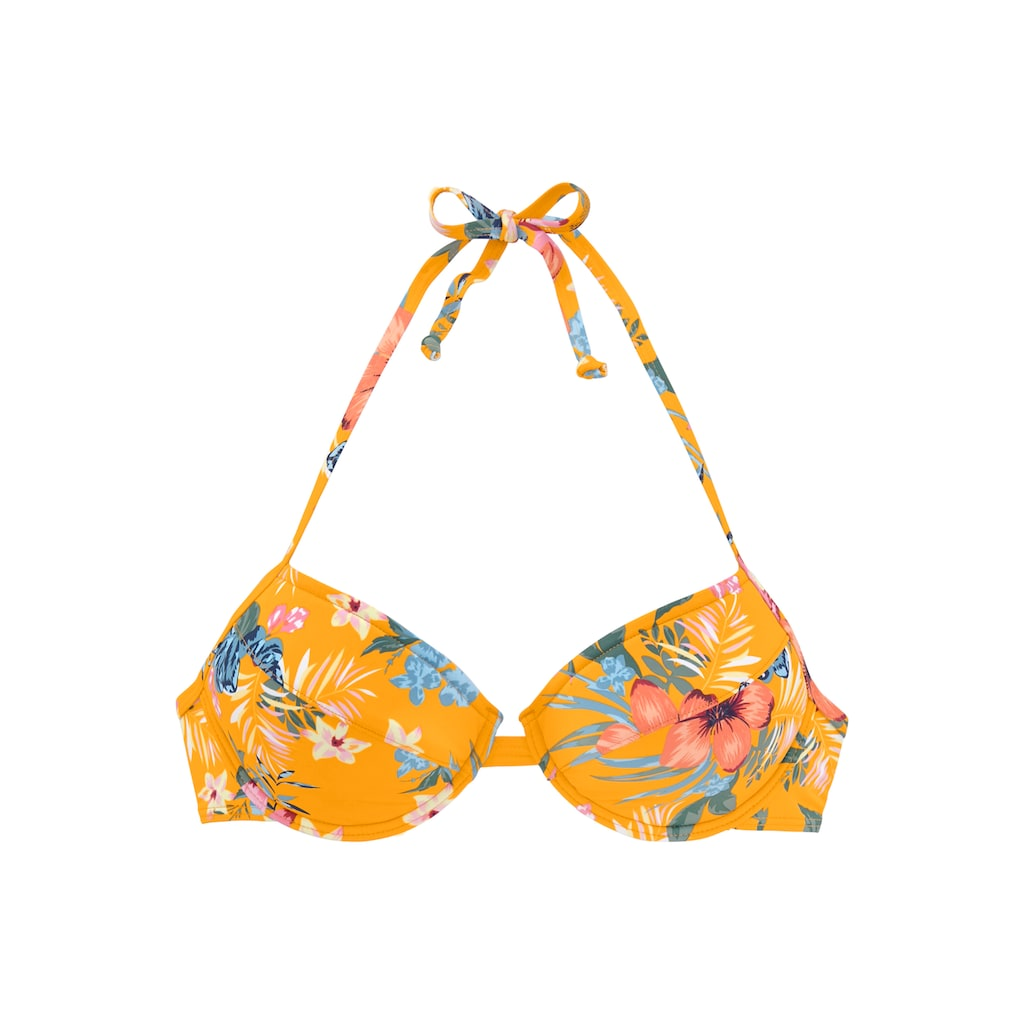 Bench. Push-Up-Bikini-Top »Maui«, mit floralem Design