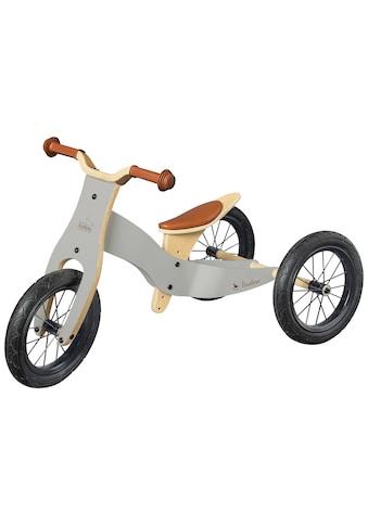 Pinolino® Laufrad »Laufrad Oskar grau/natur«, umbaubar zum Lauflerndreirad kaufen