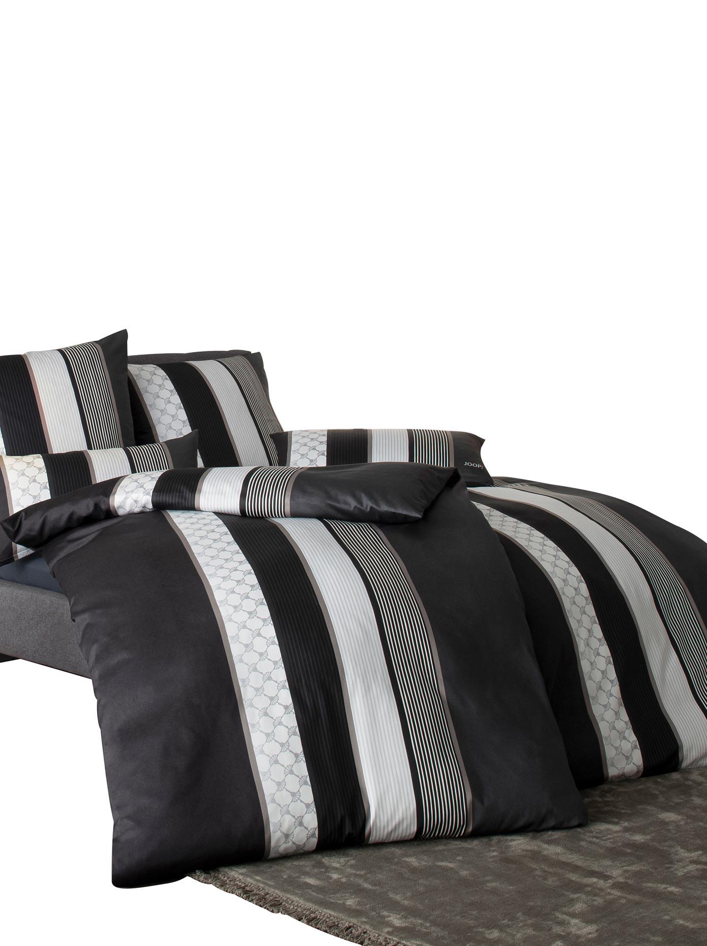 Bettwäsche schwarz Mako-Satin-Bettwäsche nach Material Bettwäsche, Bettlaken und Betttücher