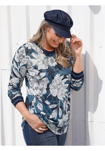 MIAMODA Rundhalsshirt, mit floralem Muster kaufen