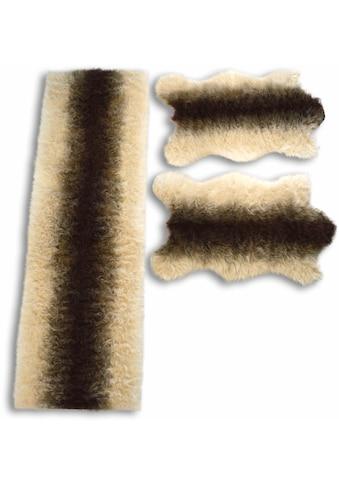 Bettumrandung »Fell Streifen« KiNZLER, Höhe 70 mm (3 - tlg.) kaufen