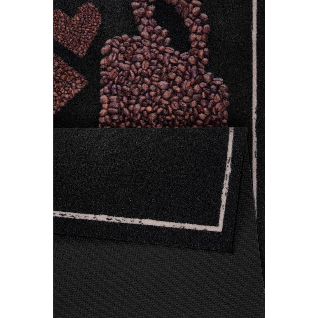 Zala Living Küchenläufer »Say with Coffee«, rechteckig, 5 mm Höhe, waschbar