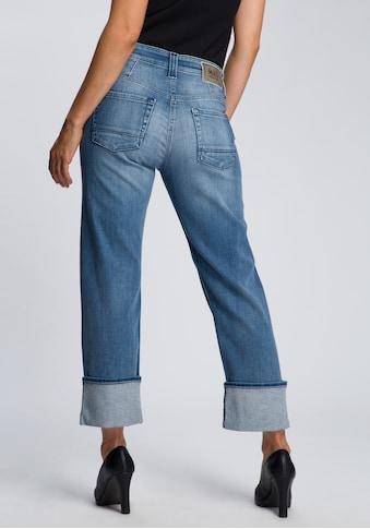 MAC Ankle-Jeans »Rich Straight«, Hinten etwas höher geschnitten mit formgebendem Einsatz kaufen