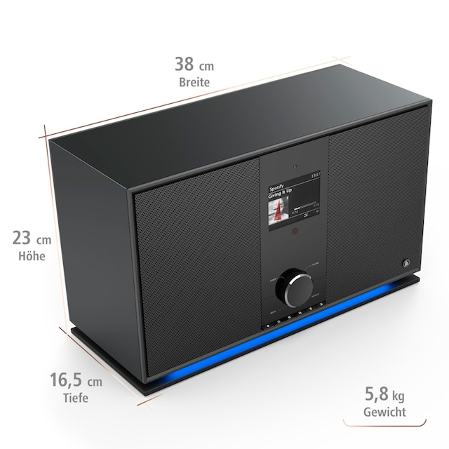 Hama Internetradio Digitalradio DIR3605MSBT mit 2.1 Soundsystem »WLAN/Multiroom/Bluetooth/DAB«