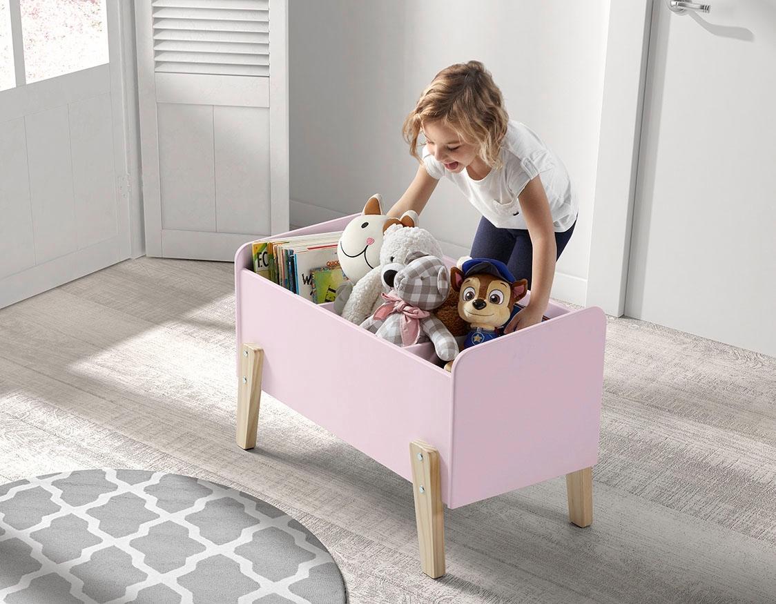 Vipack Spielzeugtruhe Kiddy, MDF-Oberfläche rosa Truhen Kleinmöbel