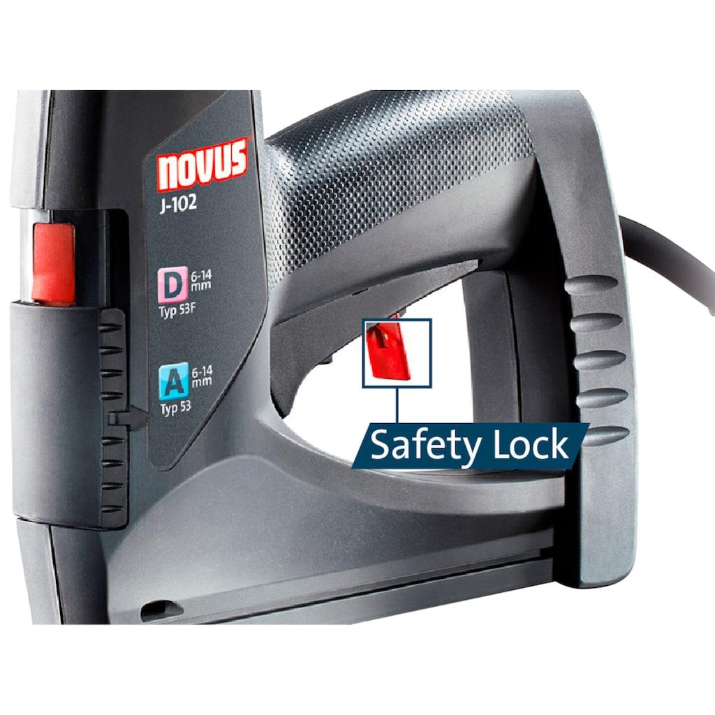 NOVUS Elektro-Tacker »J-102«, Rückschlagfreies Arbeiten, Quick-Loading-System, Auslösesicherung