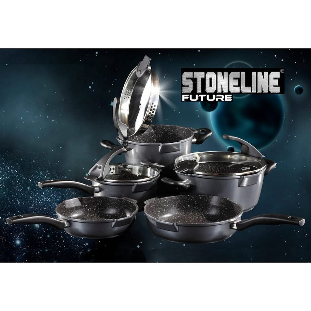 STONELINE Topf-Set »Future«, Aluminiumguss, (Set, 8 tlg.), Induktion