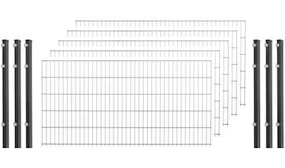 Doppelstabmattenzaun , 5 Stk., LxH: 10x1 m, anthrazit kaufen