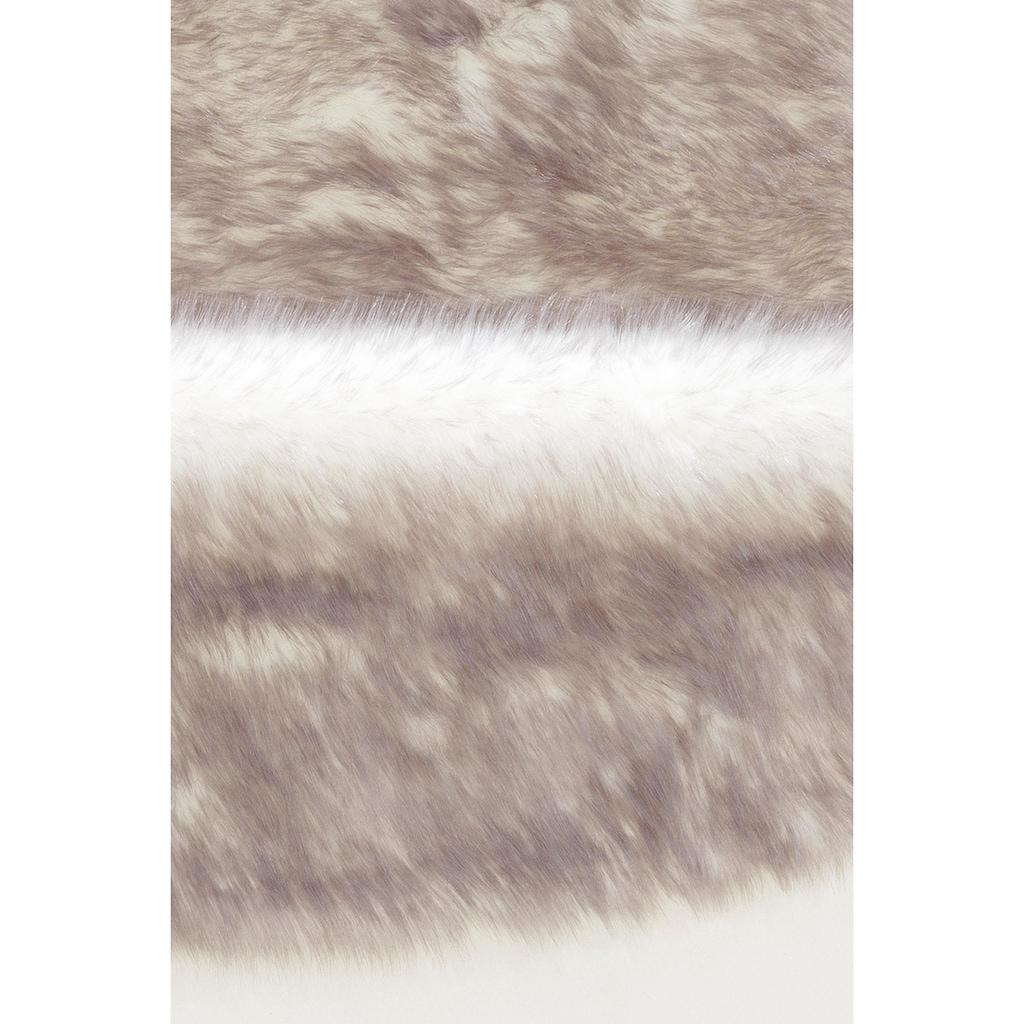 my home Fellteppich »Sammo«, rund, 60 mm Höhe, Kunstfell, sehr weicher Flor, Wohnzimmer