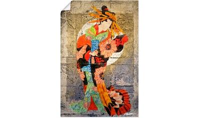 Artland Wandbild »Unterhalter I«, Frau, (1 St.), in vielen Größen & Produktarten - Alubild / Outdoorbild für den Außenbereich, Leinwandbild, Poster, Wandaufkleber / Wandtattoo auch für Badezimmer geeignet kaufen