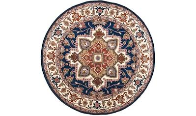 Wollteppich, »Royal Heriz«, THEKO, rund, Höhe 14 mm, handgetuftet kaufen
