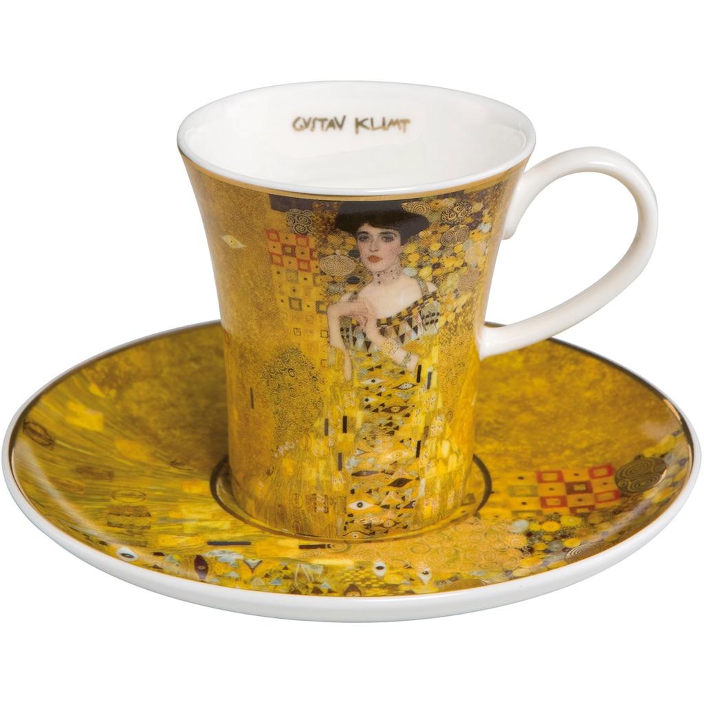 Goebel Espressotasse »Adele Bloch Bauer«, von Gustav Klimt, goldfarben