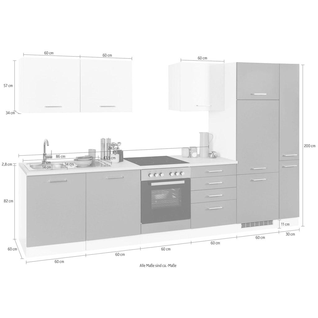 HELD MÖBEL Küchenzeile »Visby«, ohne E-Geräte, Breite 330 cm