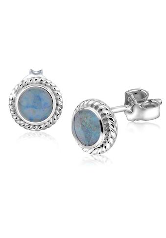 Nenalina Paar Ohrstecker »Opal Geburtsstein Oktober Trend Edel 925 Silber« kaufen