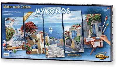 Schipper Malen nach Zahlen »Meisterklasse Polyptychon - Mykonos«, Made in Germany kaufen