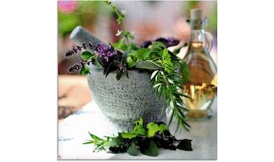 Artland Glasbild »Gesunder Kräutermix im Mörser«, Arrangements, (1 St.) kaufen