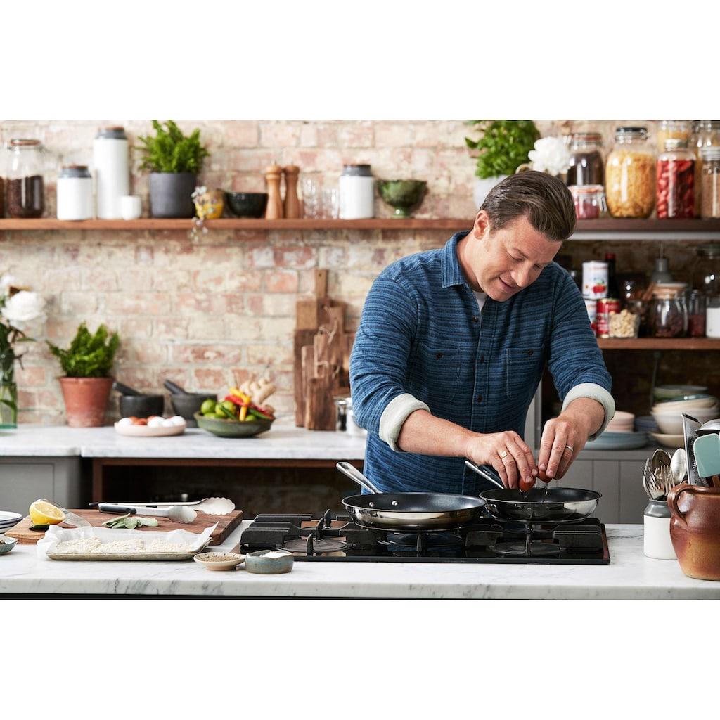 Tefal Pfannen-Set »Jamie Oliver Brushed«, Edelstahl, (Set, 2 tlg.), (Ø 24 und 28 cm), Induktion