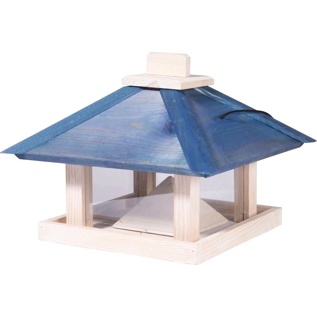 dobar Vogelhaus »Maritim«, BxTxH: 29x29x25 cm, Futterstation mit Kordel aus Kiefer