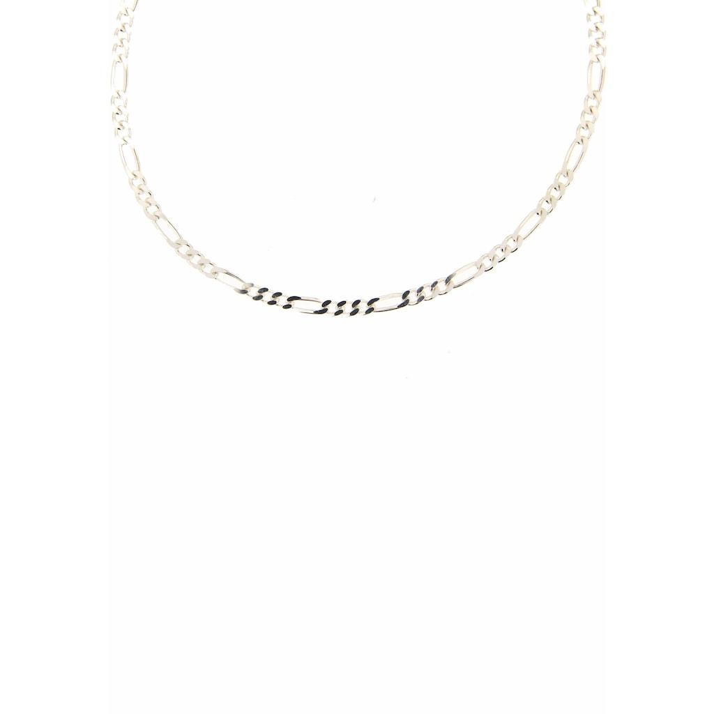 Firetti Silberkette »Figarokettengliederung 3:1, 2,8 mm breit, glanz, 2-fach diamantiert«