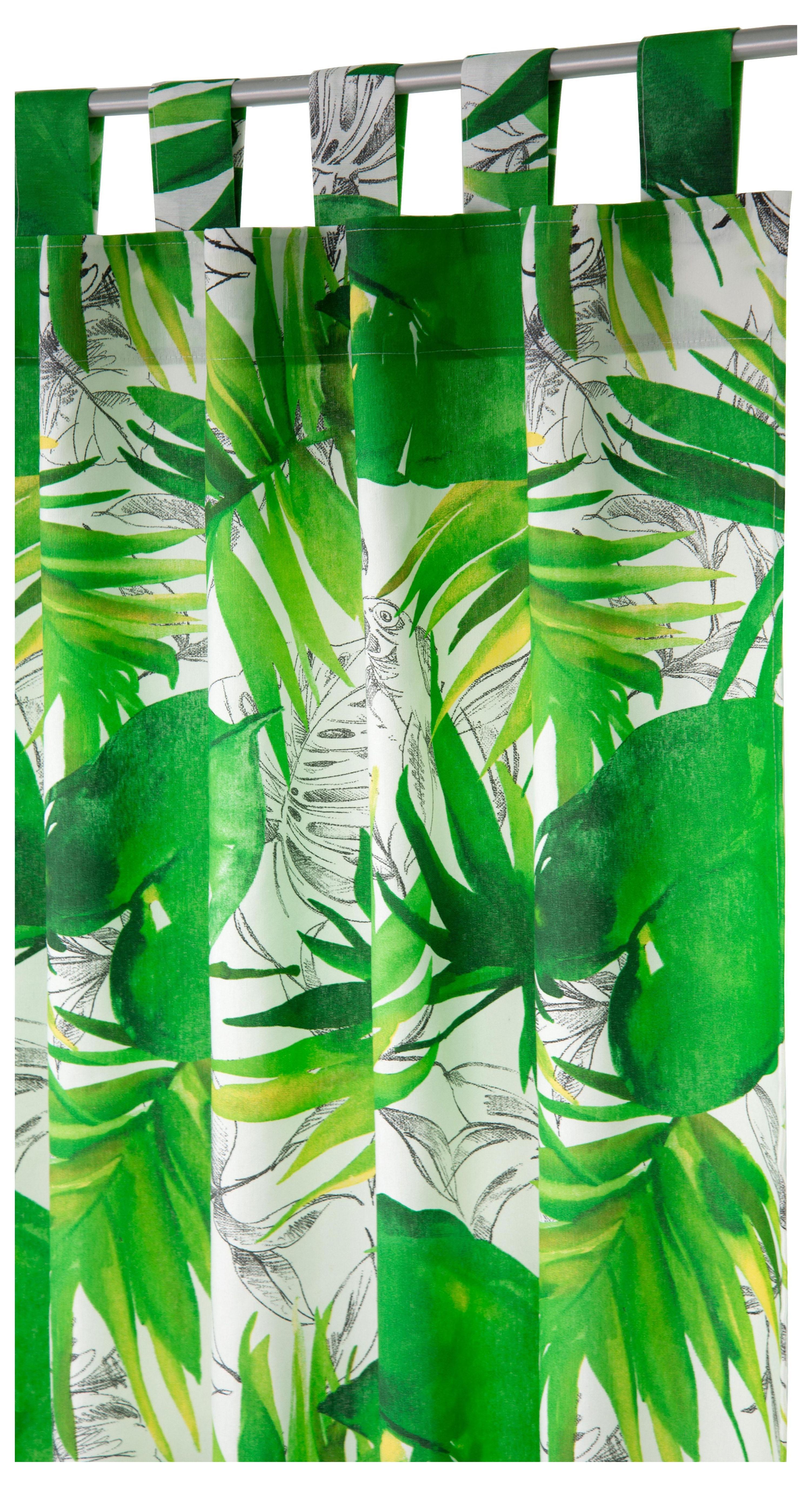 vorhang jungle tom tailor schlaufen 1 st ck auf. Black Bedroom Furniture Sets. Home Design Ideas