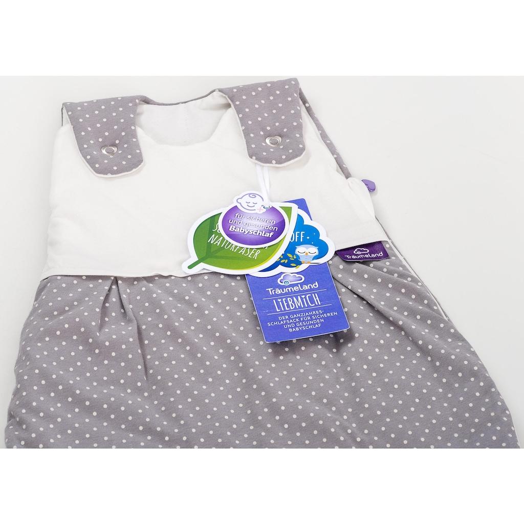 Träumeland Babyschlafsack »Set Pünktchen grau«, (Packung, 3 tlg., 3er-Pack)