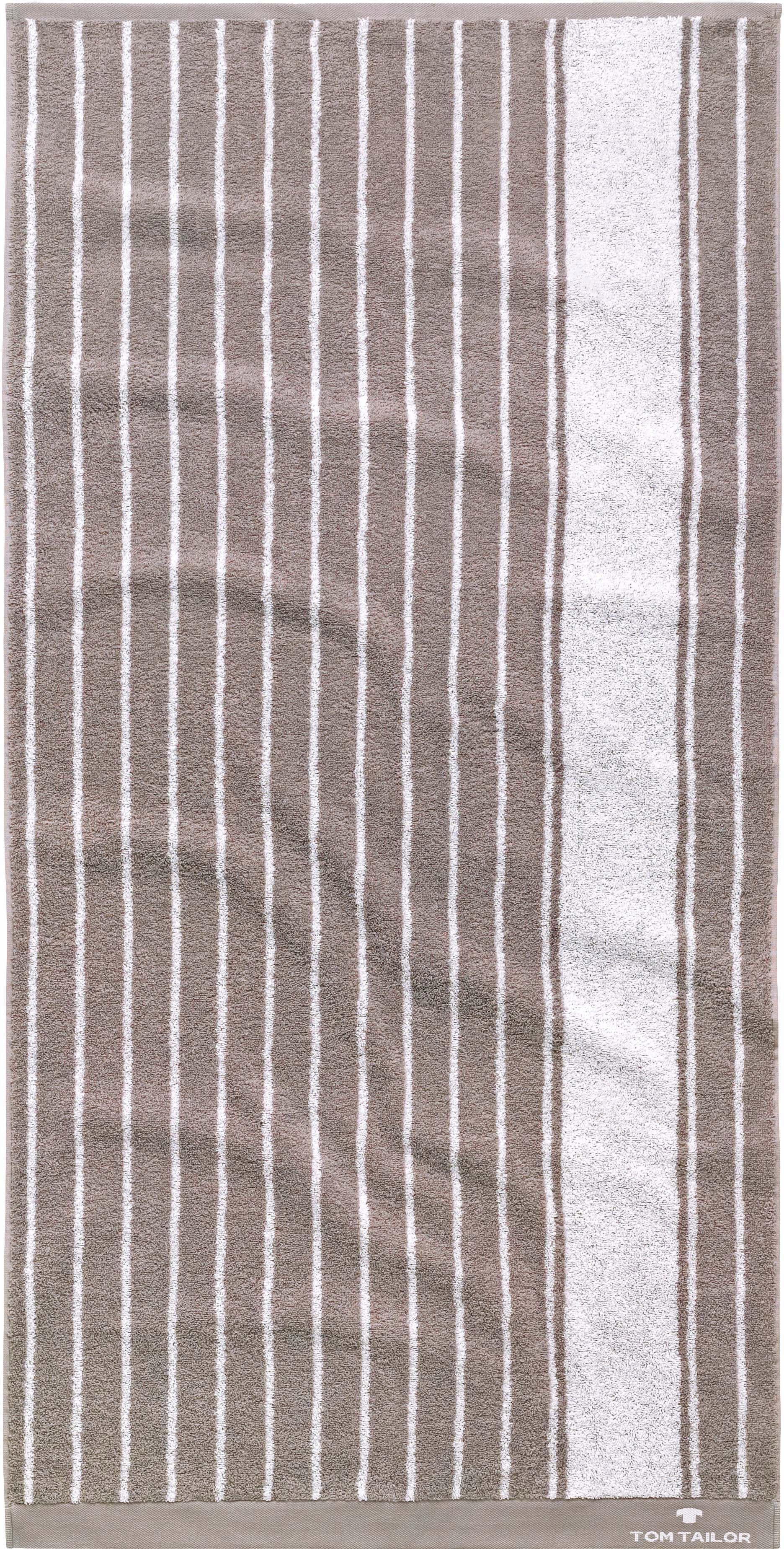 Badetuch Tom Tailor Navy Stripes mit maritimen Muster