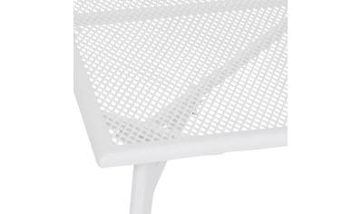 GREEMOTION Gartentisch »Toulouse«, Stahl/Kunststoff, verstellbar, 90x90 cm, weiß, ohne Stühle kaufen