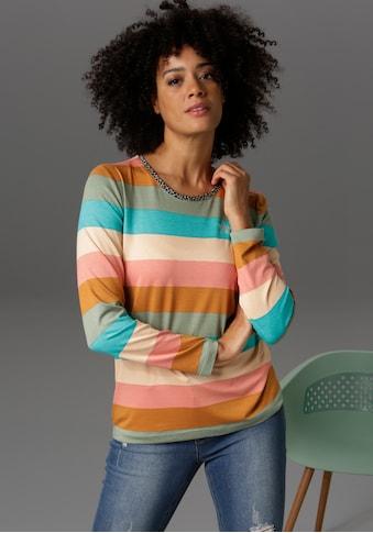 Aniston CASUAL Langarmshirt, mit Glitzersteinchen verziert kaufen