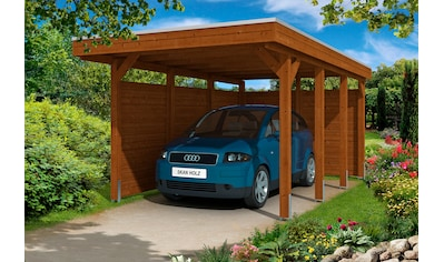 Skanholz Einzelcarport »Friesland 1«, Holz, 270 cm, braun, mit Seiten- und Rückwänden kaufen
