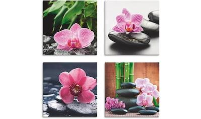 Artland Leinwandbild »Orchidee Zenstein Tropfen Spa Konzept«, Zen, (4 St.) kaufen