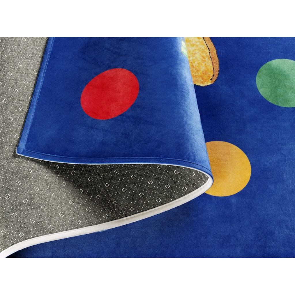 Felix der Hase Kinderteppich »FE-413«, rechteckig, 6 mm Höhe, Stoff Druck, weiche Mircofaser