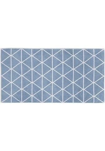 freundin Home Collection Badematte »Triangle«, Höhe 11 mm, fußbodenheizungsgeeignet-strapazierfähig-beidseitig nutzbar kaufen