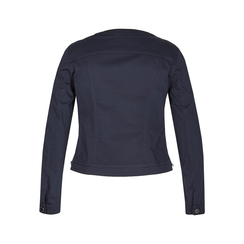 LeComte Jacke mit Uni-Design und Knopfleiste