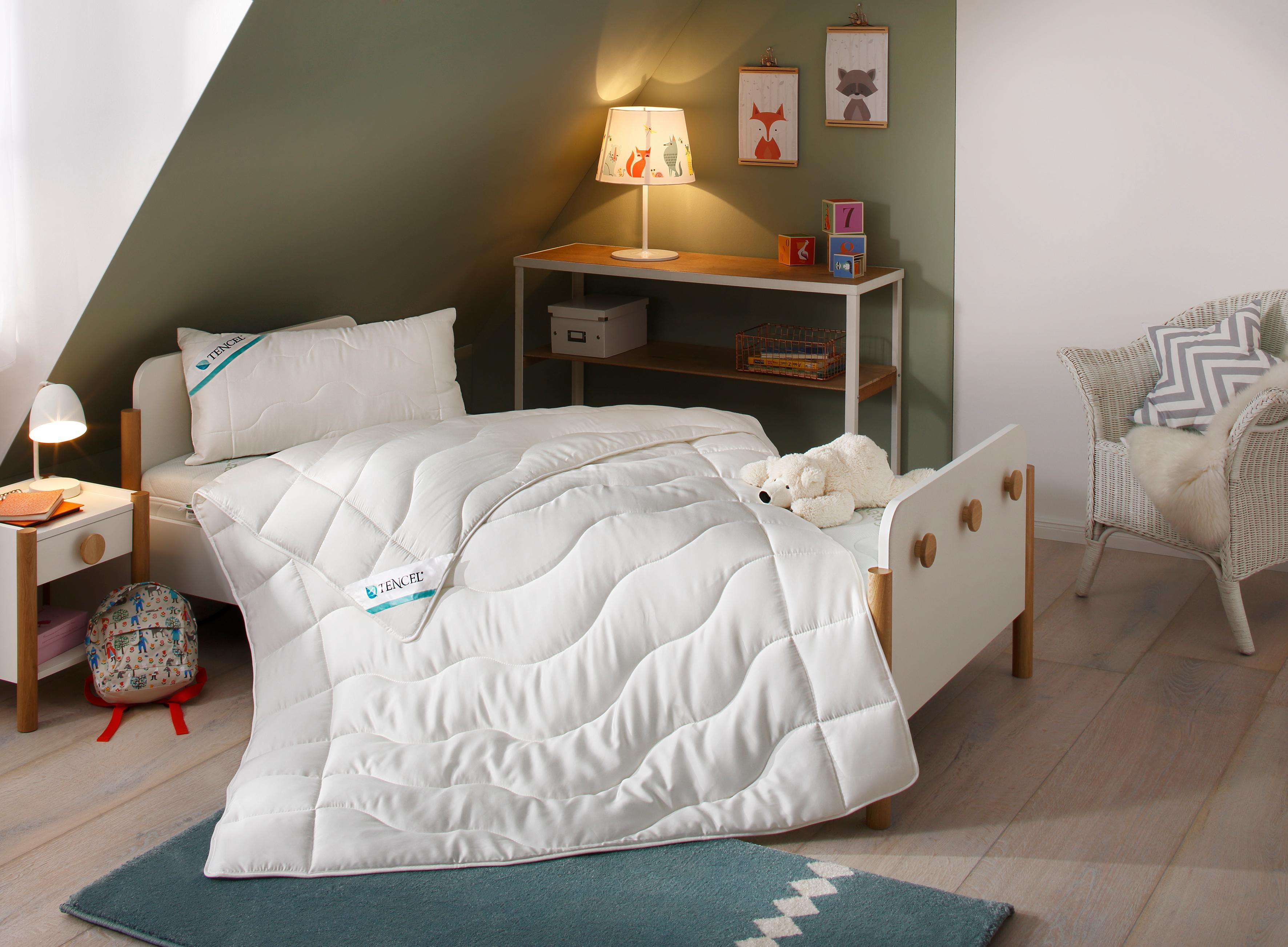 Kinderbettdecke + Kopfkissen TENCEL Lüttenhütt normal Füllung: 80% Lyocell (TENCEL) 20% Polyester Bezug: 100% Lyocell (TENCEL)